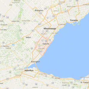 Burlington, Oakville, Miton, Port Credit, Mississauga
